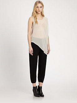 Helmut Lang - HELMUT Helmut Lang Asymmetric Silk Tank