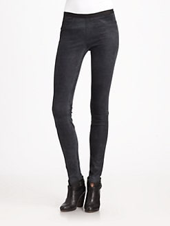 Helmut Lang - Patina Suede Leggings