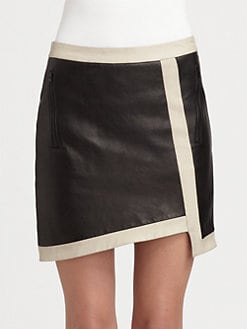 Helmut Lang - Evolution Asymmetric Leather Skirt