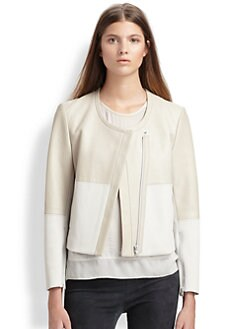 Helmut Lang - Motion Colorblock Leather Jacket