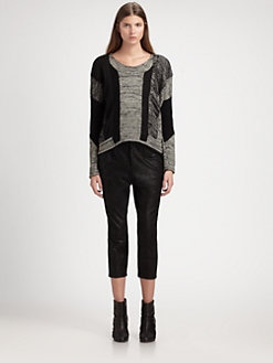 Helmut Lang - Paneled Linen-Blend Sweater