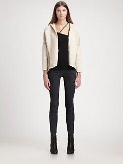 Helmut Lang - Colorblock Hooded Cardigan