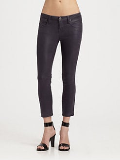 Helmut Lang - HELMUT Helmut Lang Coated Cropped Skinny Jeans