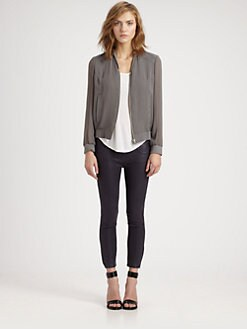 Helmut Lang - HELMUT Helmut Lang Breeze Crinkled Bomber Jacket