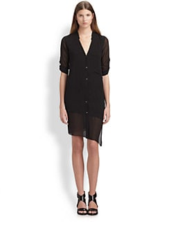 Helmut Lang - HELMUT Helmut Lang Silk Shirtdress