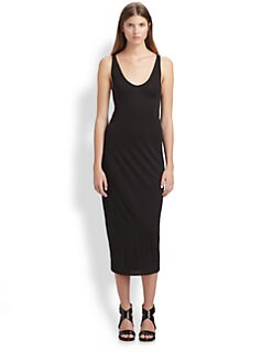 Helmut Lang - HELMUT Helmut Lang Jersey Midi-Length Dress