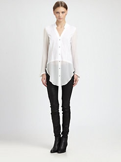 Helmut Lang - Element Sheer Hem Shirt