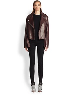 Proenza Schouler - Pebble Leather Moto Jacket