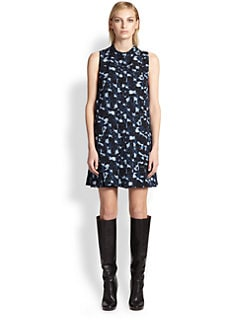 Proenza Schouler - Printed Stud-Trim Dress