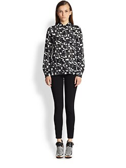 Proenza Schouler - Silk Cloud Print Blouse
