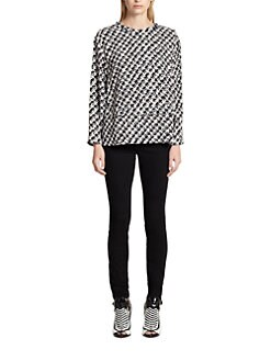 Proenza Schouler - Tweed-Print Crepe Top