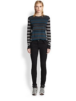 Proenza Schouler - Fine-Gauge Multi-Stripe Sweater