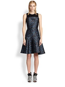 Proenza Schouler - Silk Jacquard Drop-Waist Dress