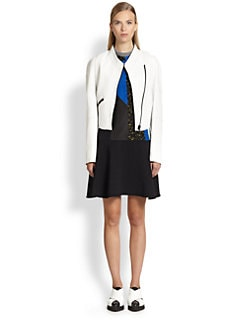 Proenza Schouler - Round-Shoulder Leather Jacket