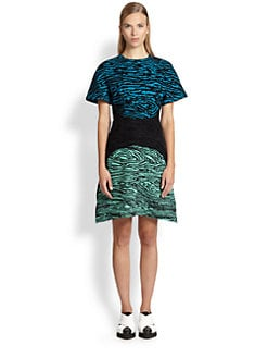 Proenza Schouler - Flocked Woodgrain Dress