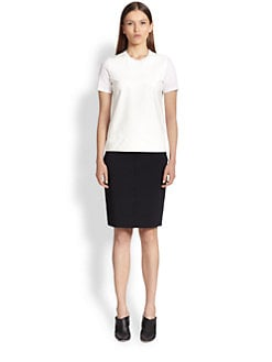 Reed Krakoff - Leather-Front Cotton Tee