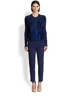 Reed Krakoff - Astrakhan Paneled Sweater