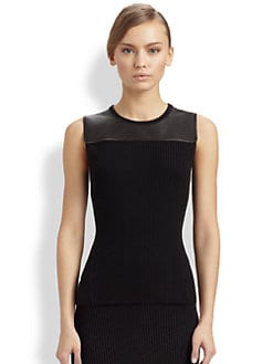 Reed Krakoff - Leather Yoke Shell