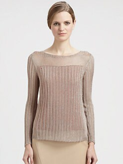 Reed Krakoff - Metallic Knit Top