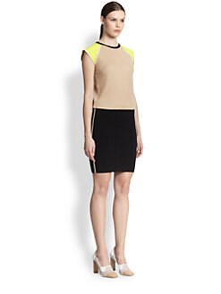 Reed Krakoff - Leather Detail Knit Dress