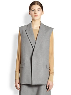 Reed Krakoff - Sleeveless Bonded Wool Jacket