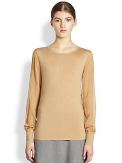 Reed Krakoff - Chiffon-Sleeve Sweater