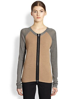 Reed Krakoff - Zip-Front Baseball Cardigan