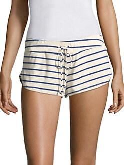 Eberjey - Striped Drawstring Shorts