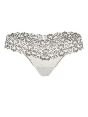 Lace-Trimmed Low-Rise Thong