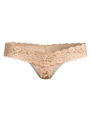 Cross-Dye Low-Rise Lace Thong