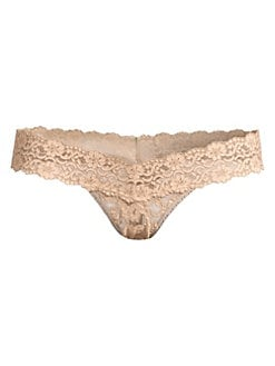 Hanky Panky - Cross-Dye Low-Rise Lace Thong