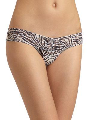 Zebra Low-Rise Thong