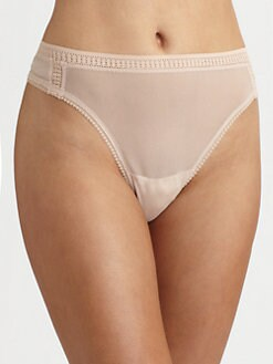 OnGossamer - High-Cut Mesh Thong