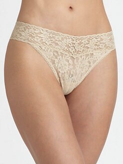 Hanky Panky - 25th Anniversary Metallic Lace Original Rise Thong