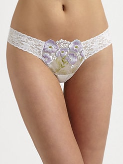 Hanky Panky - Embroidered Low-Rise Thong
