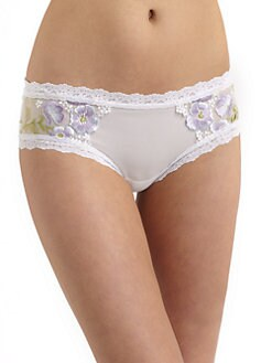 Hanky Panky - Embroidered Cheeky Hipster