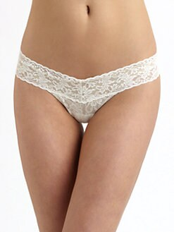 Hanky Panky - Sequined Low-Rise Ruffle Thong