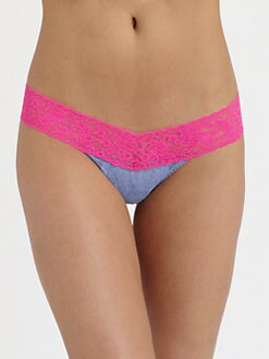 Hanky Panky - Colorplay Low-Rise Lace Thong