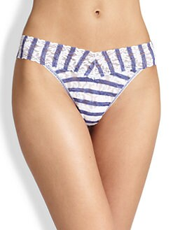 Hanky Panky - Sailor Stripe Original-Rise Lace Thong