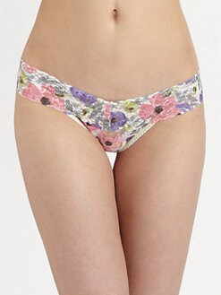 Hanky Panky - Poppies Low-Rise Lace Thong