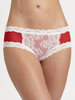 Hanky Panky - Sheer Enchantment Mesh & Lace Cheeky Hipster