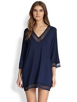 Eberjey - Gisele Lace-Trimmed Jersey Tunic