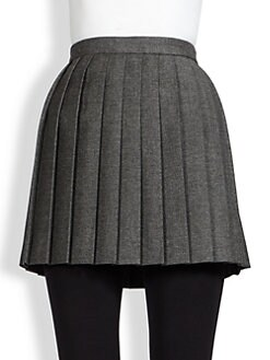 Saint Laurent - Pleated Wool Mini Skirt