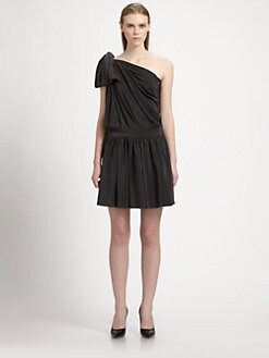 Saint Laurent - Asymmetrical Silk Dress