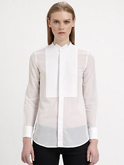 Saint Laurent - Reverse Tuxedo Collar Blouse