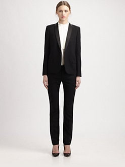 Saint Laurent - Sable De Laine Le Smoking Jacket