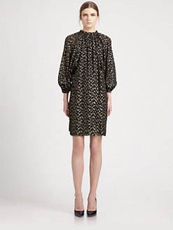 Saint Laurent - Silk Polka Dot Dress