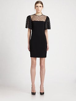 Saint Laurent - Cady Short-Sleeve Dress