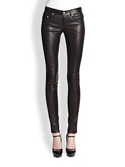 Saint Laurent - Stretch Leather Skinny Pants