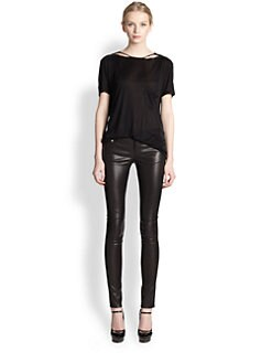 Saint Laurent - Stonewashed Silk Jersey Tee